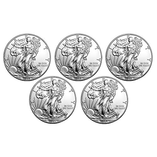 2010-2014 American Silver Eagle - 5 Coin Set With Brilliant Uncirculated ()