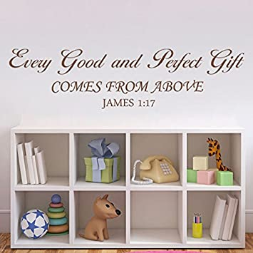Amazoncom GECKOO Bible VerseEvery Good And Perfect Gift Wall - Bible verse nursery wall decals