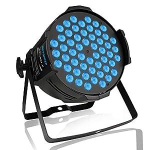 Flashandfocus.com 51-Bx8IaK9L._SS300_ BETOPPER DJ Lights, 54x3W 180W LED Par Lights RGBW, Sound Activated/DMX Stage Lights, DJ Par Light for Church, Party…