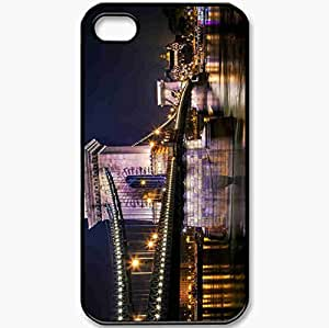 Protective Case Back Cover For iPhone 4 4S Case Szechenyi Chain Bridge Sz Black
