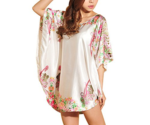 Tangkula Womens Batwing Sleeve Nightgown product image