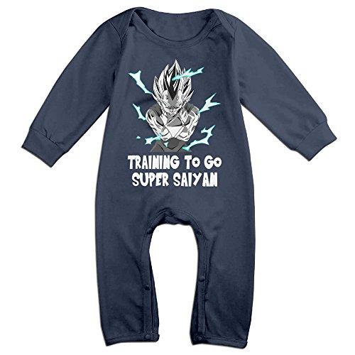 Saiyan Suit Costume (YOUD Babys Training To Go Super Saiyan Long Sleeve Bodysuit Outfits 24 Months)