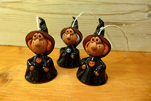 Bell Befana / Witch to decorate the Christmas tree. (Lady Pottery Figurine)