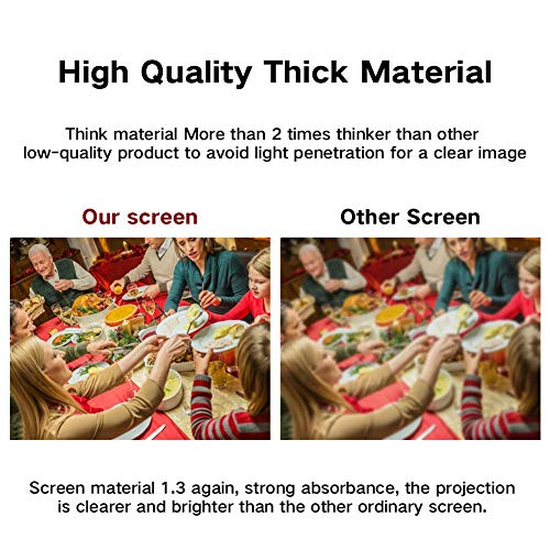 LOVAC 120 Inch Projector Screen,4k Rear Projection Screen 16:9 HD,Foldable Portable Anti-Crease Outdoor Movie Screen for Home Theater (Thin) Photo #5