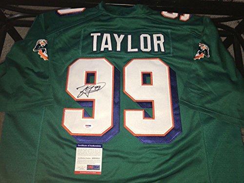 (Signed Jason Taylor Jersey - Hall Of Fame 2017 - PSA/DNA Certified - Autographed NFL Jerseys)