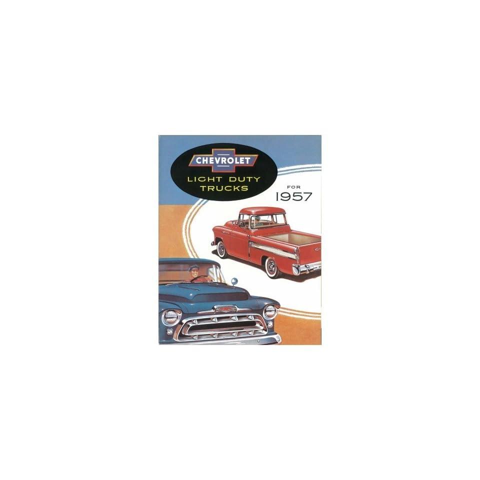 1957 Chevrolet Truck Sales Brochure Literature Book Colors Options Specification