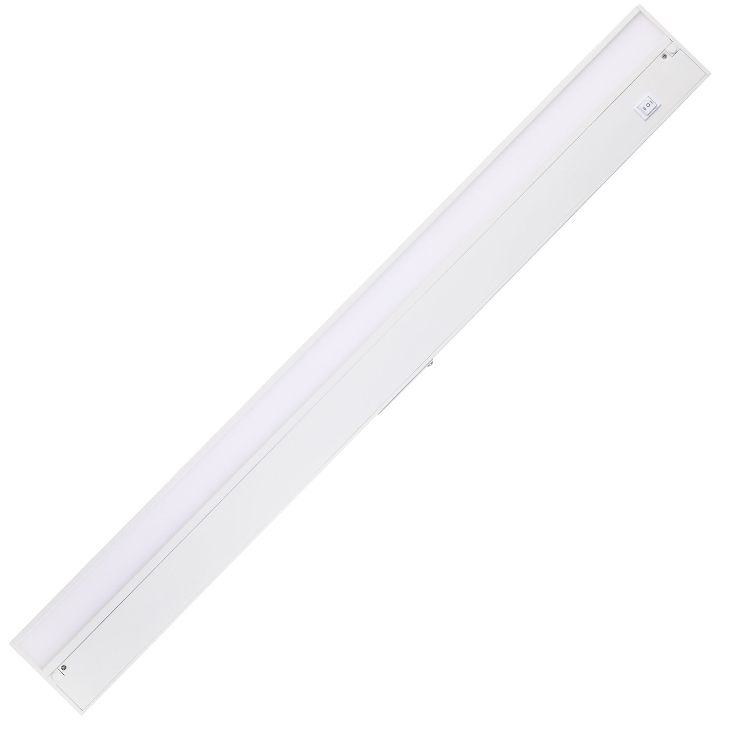 GetInLight Dimmable Hardwired or Plugged-In Under Cabinet LED Lighting with ETL Listed, Edge lit Technology, Day Light(5000K), Matte White Finished, 32 Inch, IN-0201-4-WH-50