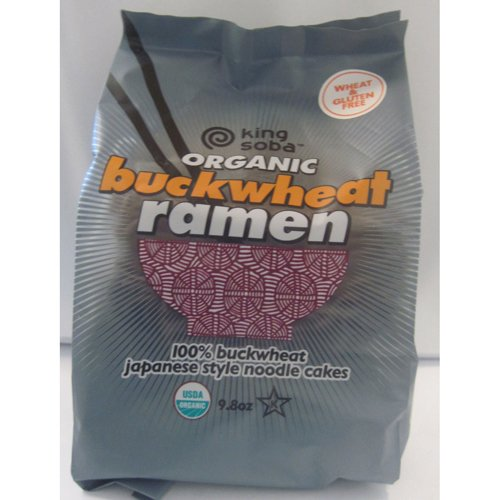 Organic Buckwheat Ramen Noodles, Gluten Free - 9.8 oz (Pack of 6) by King Soba Noodle Culture