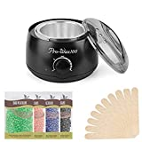 Cheap Hair Removal Wax Warmer Machine – Rapid Melt Hard Wax Kit Professional Electric Wax Heater Waxing Kit Wax Melts + 4 Flavors Hard Wax Beans + 10 Wax Applicator Sticks 3.5 oz/bag Wax Beans (Black)