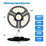 LED Garage Lights, 80W Deformable LED Garage
