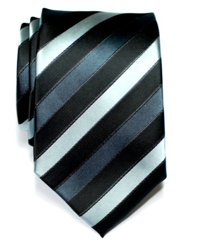 Retreez Three-Colour Stripe Woven Microfiber Men's Tie Necktie - Various Colors - http://coolthings.us