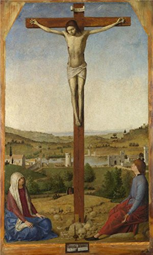 Grease Gun Gang Costume (Oil Painting 'Antonello Da Messina-Christ Crucified,1475' Printing On Perfect Effect Canvas , 16x27 Inch / 41x68 Cm ,the Best Laundry Room Decoration And Home Decoration And Gifts Is This High Resolution Art Decorative Canvas Prints)