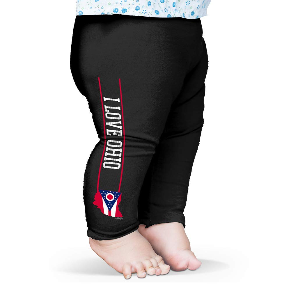 Twisted Envy I Love Ohio State Flag Baby Printed Leggings Trousers
