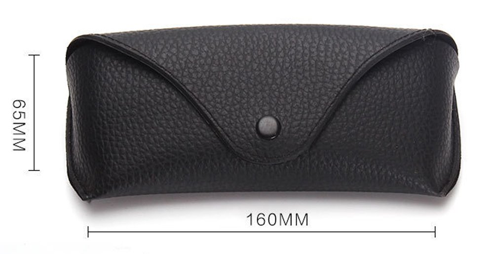 Funnuf Beltloop Vintage Sunglasses Case Litchi Leather Belt Case Retro Glasses Pouch Eyewear Case black by Funnuf (Image #5)