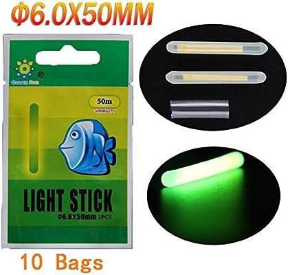 10pcs 20pcs 50pcs mucho Bulk Glow Sticks para flotadores de pesca Bobbers Pesca Luminoso Luz nocturna Stick varita tubos verde fluorescente iluminación ...