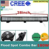 28''180w LED Light Bar Spot Flood Work for 4WD Boat UTE Driving ATV Jeep Car CREE