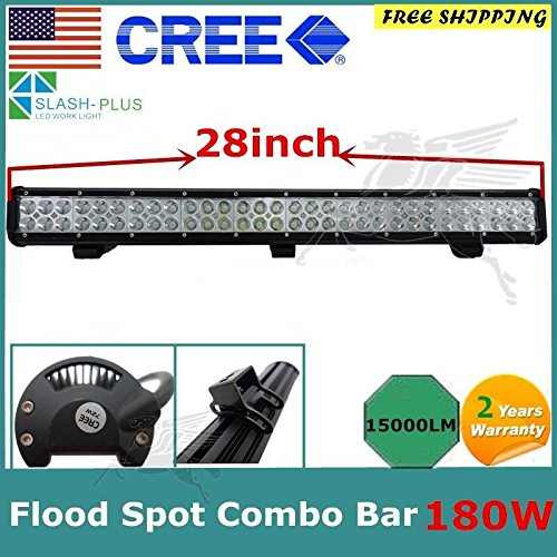 28''180w LED Light Bar Spot Flood Work for 4WD Boat UTE Driving ATV Jeep Car CREE by Unknown