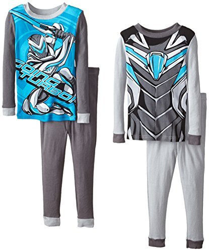 Max Steel Little Boys' Costume 4-Piece Cotton, Blue, 4