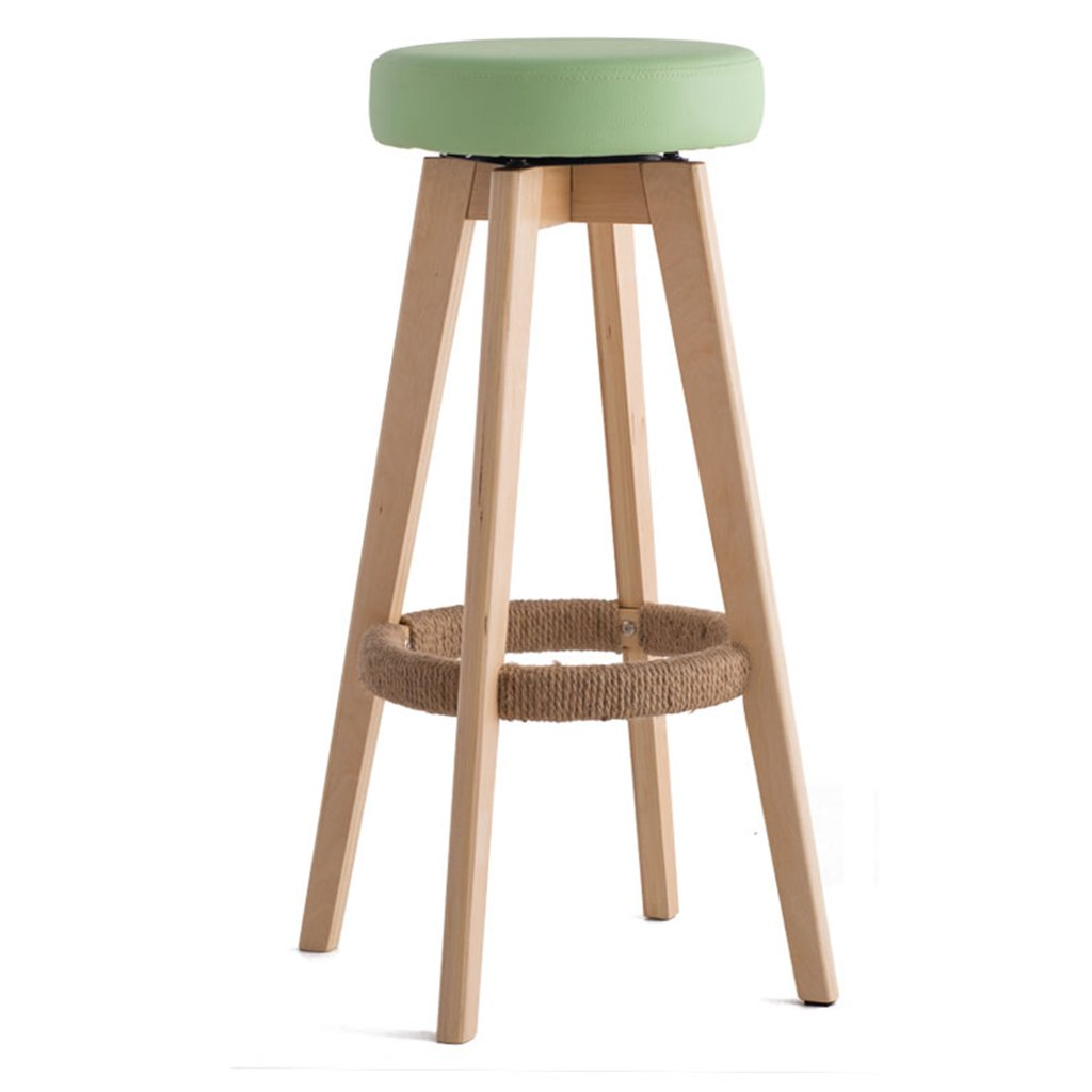 ANDEa Chaise de bar - tabouret de bar Tabouret de bar Tabouret de haute taille Bois massif Barre simple en tissu