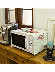 Embroidery Microwave Oven Cover Oven Cover Cloth Cotton And Linen Cloth Microwave Oven Dust Cover 33