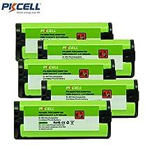 PKCELL 2.4V Ni-MH Rechargeable Cordless Home phone Battery for Panasonic HHR-P105 HHR P105 HHR-P105A HHR P105A KX242 KX-242 KX2420 KX-2420 KX2421 (5)