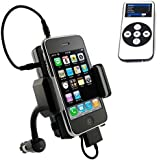FM Transmitter Multi-Channel Audio Hands Free Car Holder Cradle with Remote for Ipod Nano 5th Gen - Ipod Nano 6th Gen - Ipod Classic