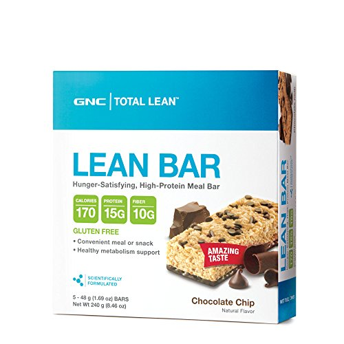 GNC Total Lean Lean Protein Bar - Chocolate Chip 5 bars