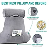 Vekkia Premium Soft Reading & Bed Rest Pillow with