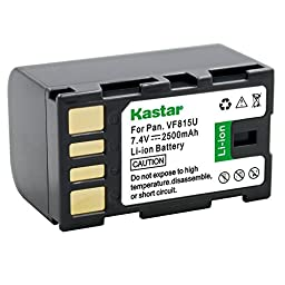 Kastar Hi-quality Replacement Camcorder Battery for JVC GC-PX1, GR-DA20, GR-DA20EX, GR-DA30, GR-DA30US, JVC GR-D, GR-HD, GZ-HM, GZ-MG, GZ-MS Series, Compatible Part Numbers: BN-VF808, BN-VF815, VF823