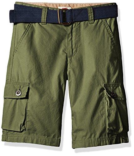 Levi's Big Boys' Cargo Shorts, Bluefish Olive, 10