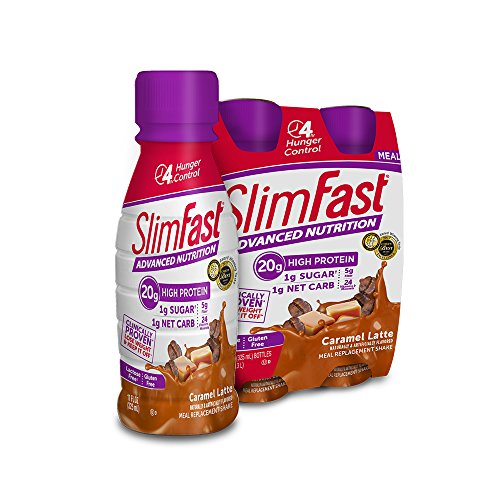 SlimFast Advanced Nutrition Strawberries and Cream Shake – Meal Replacement – 20g of Protein – 11oz – 12 Count