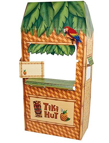 BirthdayExpress Jungle Room Decor - Tiki Hut Cardboard - Hut Jungle