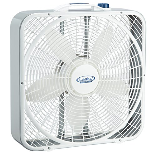 Lasko 20″ Weather-Shield Performance Box Fan - Features Innovative Wind Ring System for Up to 30% More Air 3720