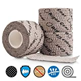Product review for Stretchy Sticky Lifting Athletic Tape - Rigor Gear Flexible Cotton Sports Weightlifting Tape - Premium Finger Tape - Self Adhesive, Use for Boxing, Climbing, Crossfit Tape