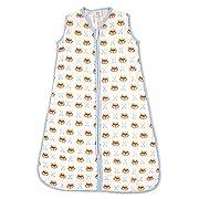 Luvable Friends Baby Infant Soft Muslin Or Jersey Safe Wearable Sleeping Bag, Fox Muslin, 0-6 Months