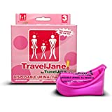 Travel Jane Emergency Bathroom Kit for Women - Portable Urinals for Traveling, Camping, Hiking - Odorless, Hygienic, Non-Toxic, Disposable