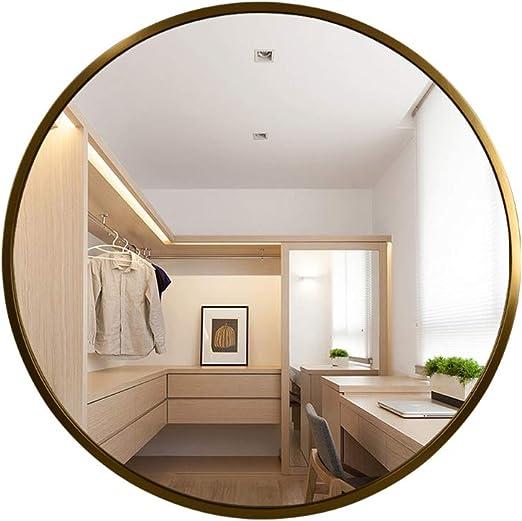 Espejos de pared, Espejo de baño Redondo, Marco de Madera Maciza, diseño Vintage Moderno, Espejo de tocador para baño/Dormitorio, diámetro 40 cm, 50 cm, 60 cm, 70 cm, 80 cm: Amazon.es: Hogar