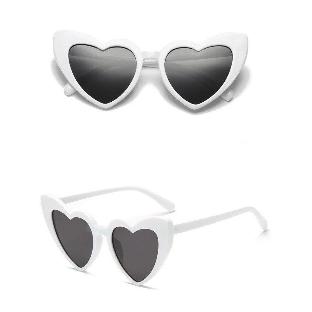 Logobeing Gafas de Sol Mujer de Las Sombras de Moda En Forma de Corazón de Retro Vidrios UV Integrados