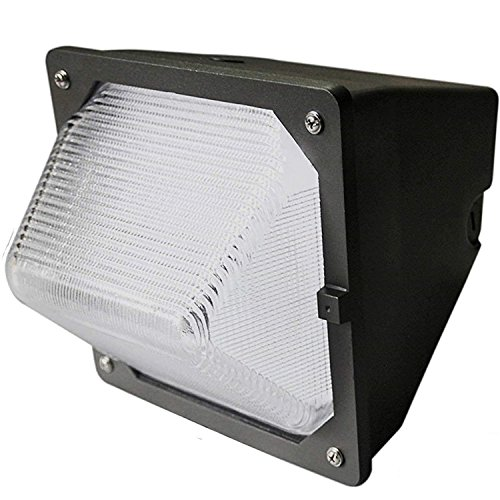 30W LED Wall Pack LED Wall Pack with Built-in Photo Sensor (200 Watt HPS/HID Replacement) 5000K (Daylight) 3100 Lumens, Commercial Grade, Glass Lens, Lighting Fixture, UL Listed DLC Qualified (4 Pack) -