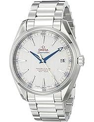 Omega Mens 23110422102004 Seamaster150 Analog Display Swiss Automatic Silver Watch