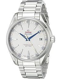 Men's 23110422102004 Seamaster150 Analog Display Swiss Automatic Silver Watch