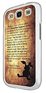 661 - The Velveteen Rabbit Story Real isn't How You are MadeDesign For Samsung Galaxy S3 i9300 Fashion Trend CASE Back COVER Plastic&Thin Metal