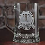 Personalized, monogrammed beer mugs SET OF 2 (M8)