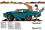 1968 Plymouth Road Runner Ad Digitized and Re-mastered Car Poster Print