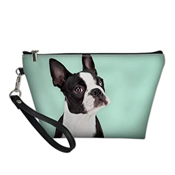 13a31285bd89 INSTANTARTS Boston Terrier Dog Protable Cosmetic Bag Travel Casual Makeup  Pouch Waterproof...