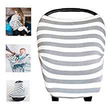 Multi-Use Nursing Breastfeeding Cover Baby Car Set Cover Canopy Shopping Cart Cover Swaddle Blanket for Infants Newborns Toddlers Shower Gift