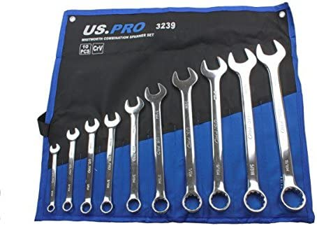 Wright Tool No-958 18-Piece Full Polish Metric Combination Wrench Set