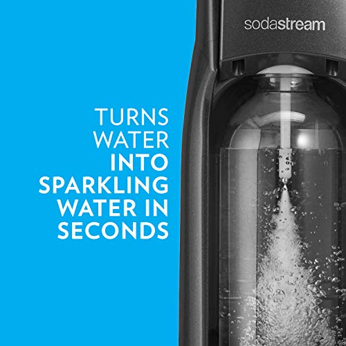 SodaStream 1412111015 Jet Sparkling Water Maker, Kit w/60l Cylinder, Black
