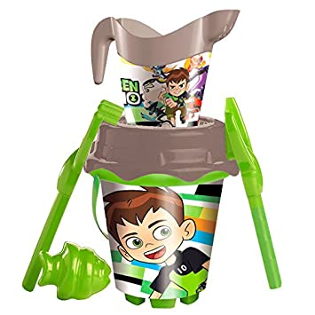 Ben 10-MD-312037 Cubo Castillo con Regadera Decorada, Pala ...