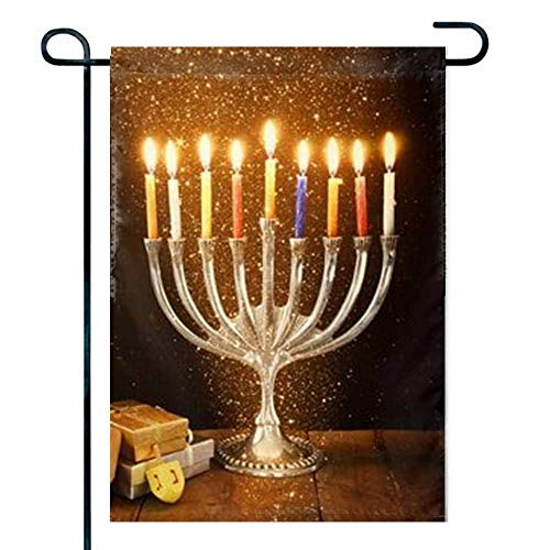 HOOSUNFlagrbfa Hanukkah Stock Photos Halloween,Easter Candy Treat Garden Flag, 12x 18 inches